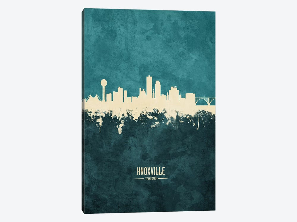 Knoxville Tennessee Skyline by Michael Tompsett 1-piece Canvas Art Print