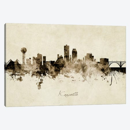 Knoxville Tennessee Skyline Canvas Print #MTO1890} by Michael Tompsett Canvas Art Print