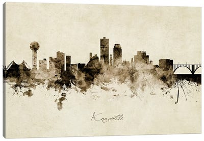 Knoxville Tennessee Skyline Canvas Art Print