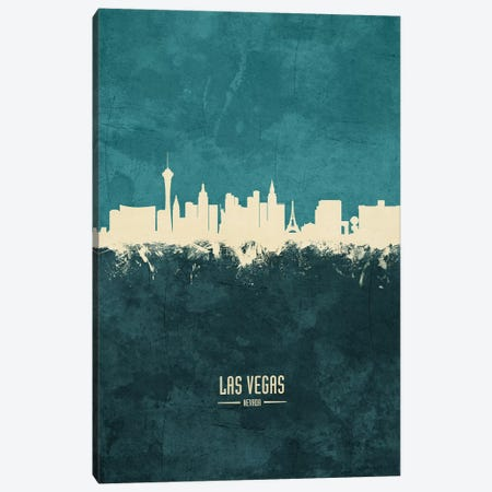 Las Vegas Nevada Skyline Canvas Print #MTO1892} by Michael Tompsett Canvas Print