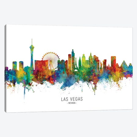 Las Vegas Nevada Skyline Canvas Print #MTO1893} by Michael Tompsett Canvas Print
