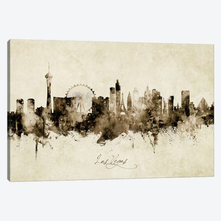 Las Vegas Nevada Skyline Canvas Print #MTO1894} by Michael Tompsett Canvas Wall Art