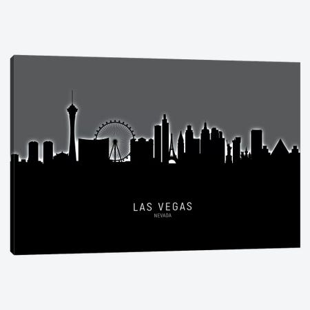 Las Vegas Nevada Skyline Canvas Print #MTO1895} by Michael Tompsett Canvas Wall Art