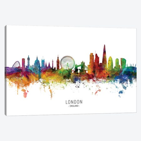 London England Skyline Canvas Print #MTO1896} by Michael Tompsett Canvas Art