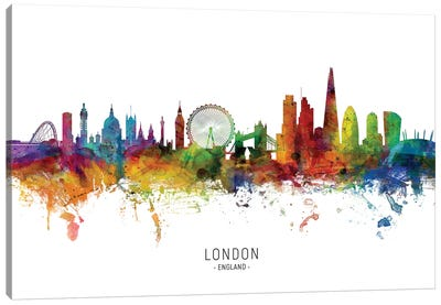 London England Skyline Canvas Art Print