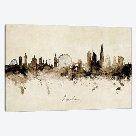 London England Skyline Canvas Print #MTO1897} by Michael Tompsett Canvas Artwork