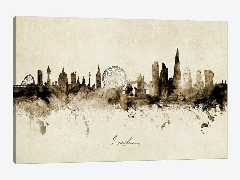 London England Skyline by Michael Tompsett 1-piece Canvas Wall Art