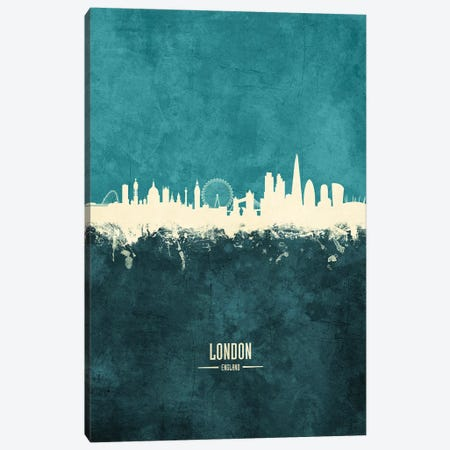 London England Skyline Canvas Print #MTO1899} by Michael Tompsett Art Print