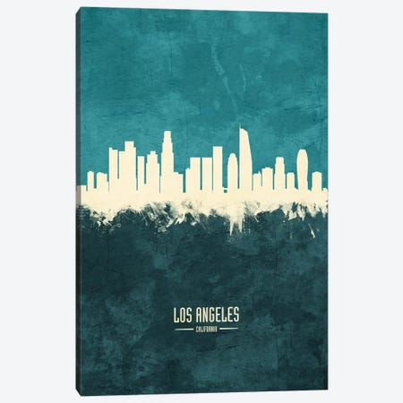 Los Angeles California Skyline Canvas Print #MTO1900} by Michael Tompsett Canvas Art Print
