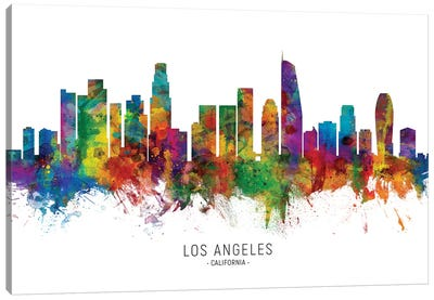 Los Angeles California Skyline Canvas Art Print