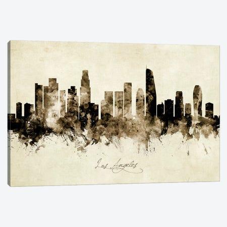 Los Angeles California Skyline Canvas Print #MTO1902} by Michael Tompsett Canvas Art Print