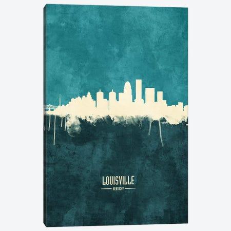 Louisville Kentucky City Skyline Canvas Print #MTO1905} by Michael Tompsett Canvas Art