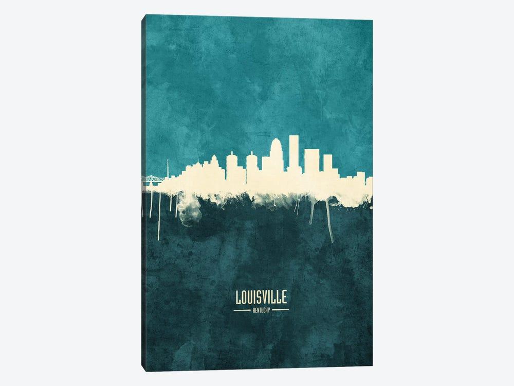 Louisville Kentucky City Skyline by Michael Tompsett 1-piece Canvas Wall Art