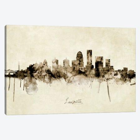 Louisville Kentucky City Skyline Canvas Print #MTO1906} by Michael Tompsett Canvas Art