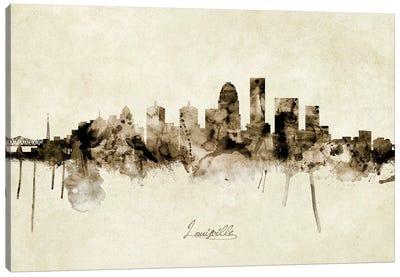 Louisville Kentucky City Skyline Canvas Art Print