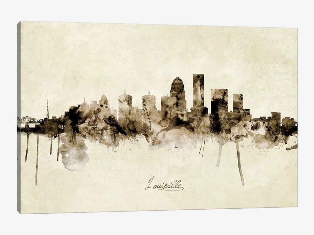 Louisville Kentucky City Skyline by Michael Tompsett 1-piece Art Print
