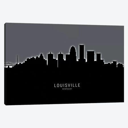 Louisville Kentucky City Skyline Canvas Print #MTO1907} by Michael Tompsett Canvas Wall Art