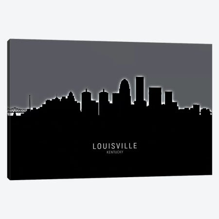 Louisville Kentucky City Skyline Canvas Print #MTO1907} by Michael Tompsett Canvas Wall Art