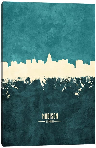 Madison Wisconsin Skyline Canvas Art Print