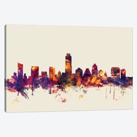 Austin, Texas, USA On Beige Canvas Print #MTO190} by Michael Tompsett Canvas Print