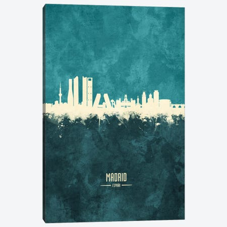 Madrid Spain Skyline Canvas Print #MTO1911} by Michael Tompsett Canvas Wall Art
