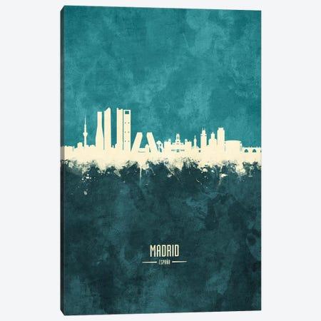 Madrid Spain Skyline Canvas Print #MTO1911} by Michael Tompsett Canvas Wall Art