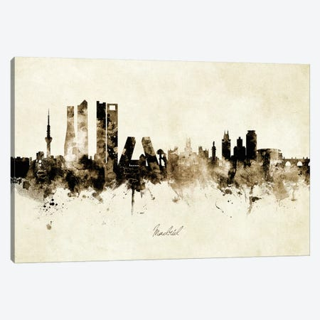Madrid Spain Skyline 3-Piece Canvas #MTO1913} by Michael Tompsett Canvas Artwork