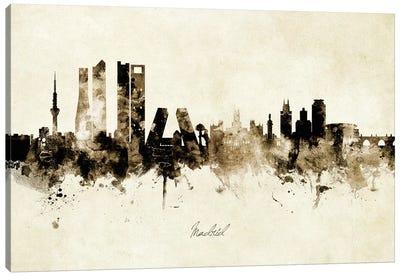 Madrid Spain Skyline Canvas Art Print