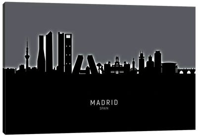 Madrid Spain Skyline Canvas Art Print