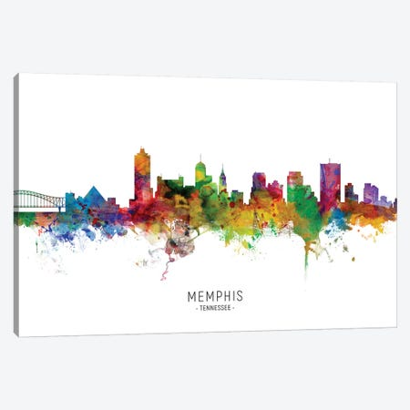 Memphis Tennessee Skyline Canvas Print #MTO1915} by Michael Tompsett Art Print