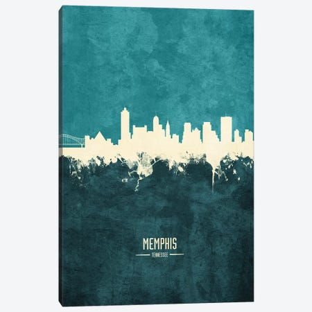 Memphis Tennessee Skyline Canvas Print #MTO1916} by Michael Tompsett Art Print