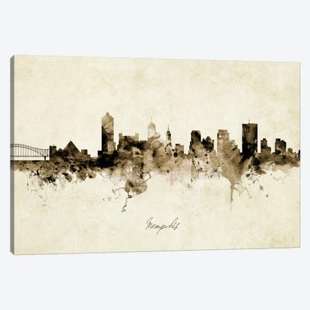 Memphis Tennessee Skyline Canvas Print #MTO1917} by Michael Tompsett Art Print