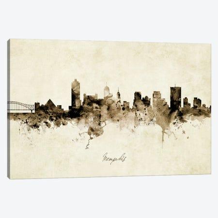 Memphis Tennessee Skyline Canvas Print #MTO1917} by Michael Tompsett Art Print