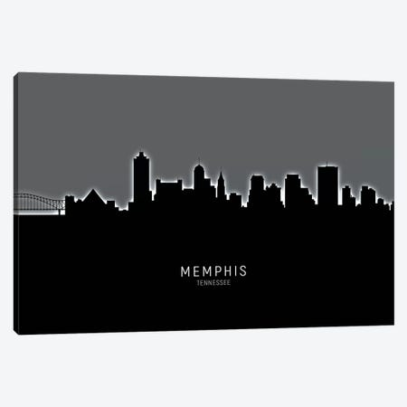 Memphis Tennessee Skyline Canvas Print #MTO1918} by Michael Tompsett Canvas Wall Art