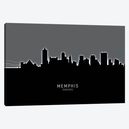 Memphis Tennessee Skyline Canvas Print #MTO1918} by Michael Tompsett Canvas Wall Art