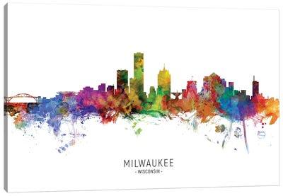 Milwaukee Wisconsin Skyline Canvas Art Print