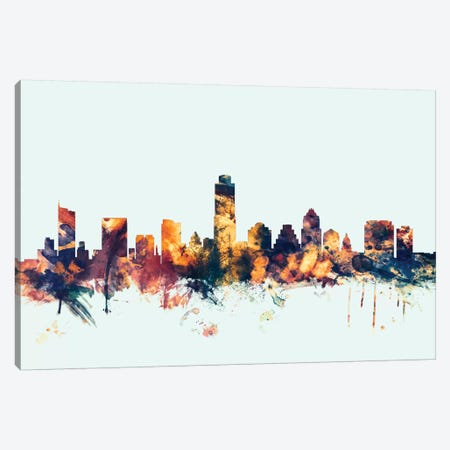 Austin, Texas, USA On Blue Canvas Print #MTO191} by Michael Tompsett Canvas Print