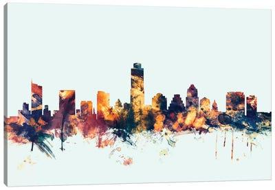 Austin, Texas, USA On Blue Canvas Art Print