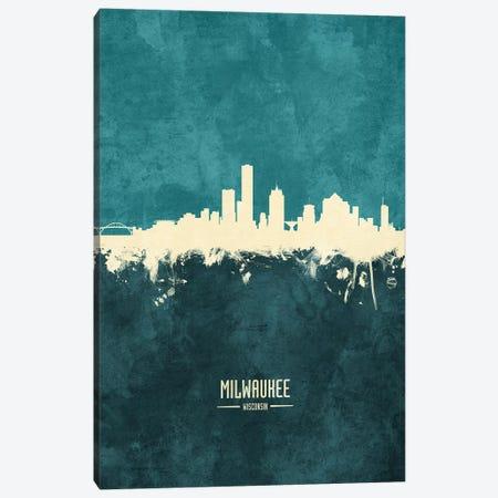 Milwaukee Wisconsin Skyline Canvas Print #MTO1920} by Michael Tompsett Art Print