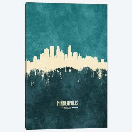 Minneapolis Minnesota Skyline Canvas Print #MTO1924} by Michael Tompsett Canvas Artwork