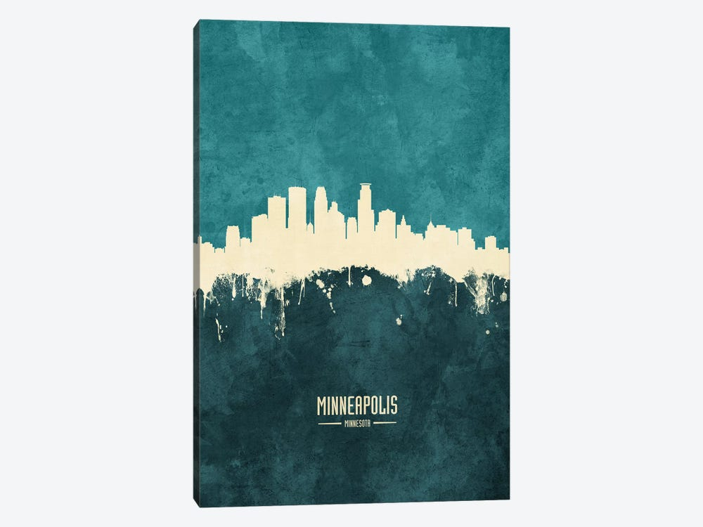 Minneapolis Minnesota Skyline by Michael Tompsett 1-piece Art Print