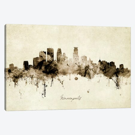 Minneapolis Minnesota Skyline Canvas Print #MTO1925} by Michael Tompsett Canvas Art