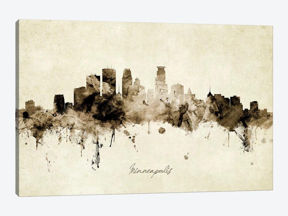 Minneapolis Minnesota Skyline by Michael Tompsett 1-piece Canvas Wall Art