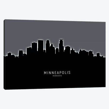 Minneapolis Minnesota Skyline Canvas Print #MTO1926} by Michael Tompsett Canvas Wall Art