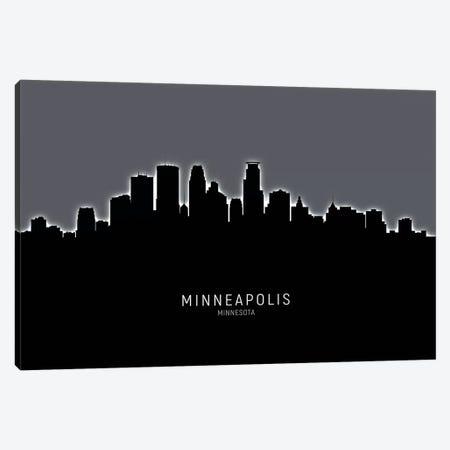 Minneapolis Minnesota Skyline Canvas Print #MTO1926} by Michael Tompsett Canvas Wall Art
