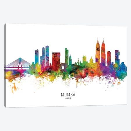 Mumbai Skyline India Bombay Canvas Print #MTO1927} by Michael Tompsett Canvas Artwork