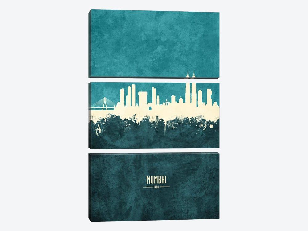 Mumbai Skyline India Bombay by Michael Tompsett 3-piece Canvas Print