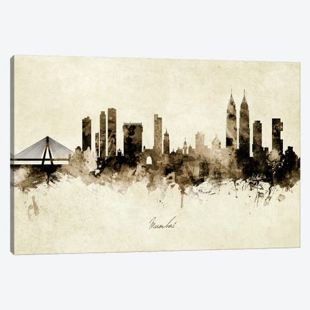Mumbai Skyline India Bombay Canvas Print #MTO1929} by Michael Tompsett Canvas Art Print
