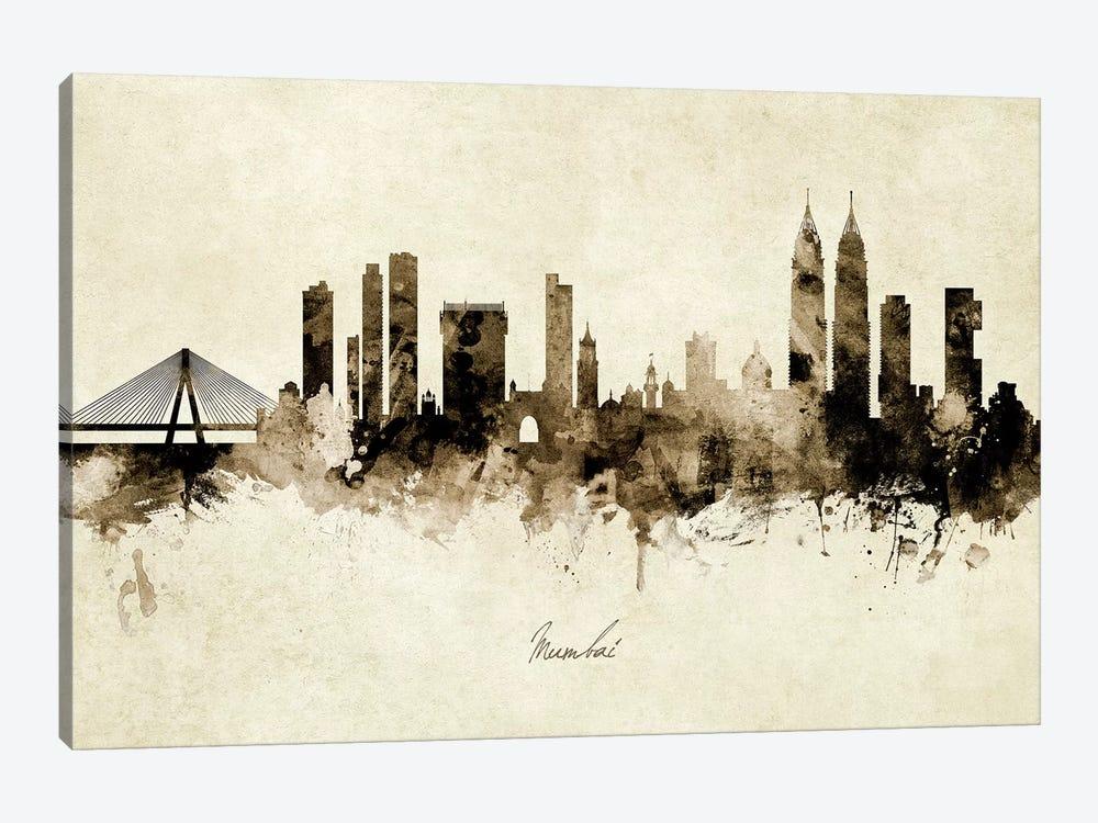 Mumbai Skyline India Bombay by Michael Tompsett 1-piece Canvas Art