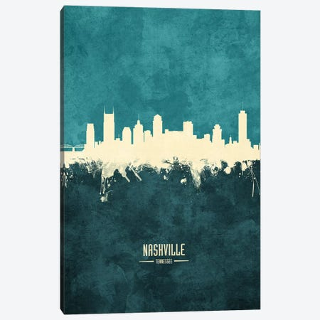 Nashville Tennessee Skyline Canvas Print #MTO1932} by Michael Tompsett Canvas Art